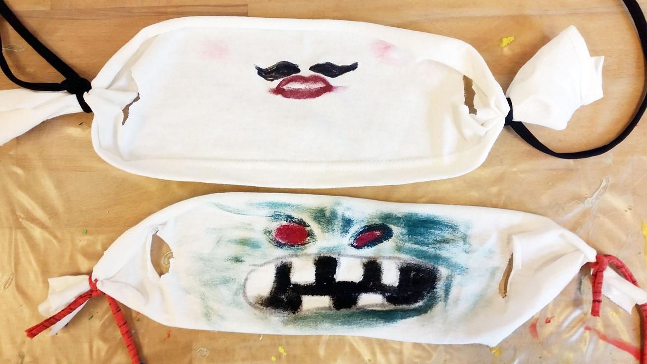 Corona-Kunstmasken zum Selberbauen