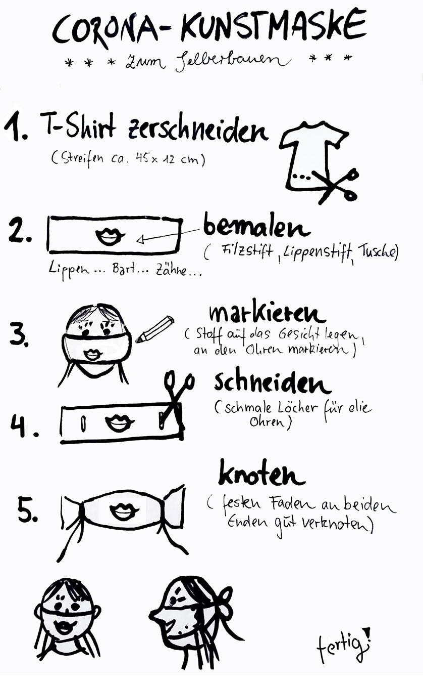 Anleitung: Kunst-Masken